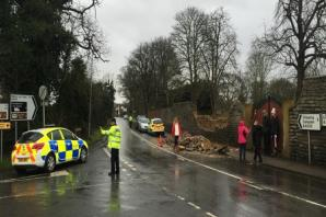 Two children seriously injured after wall collapsed in Bretforton